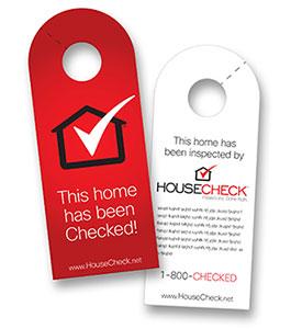 housecheck door hangers