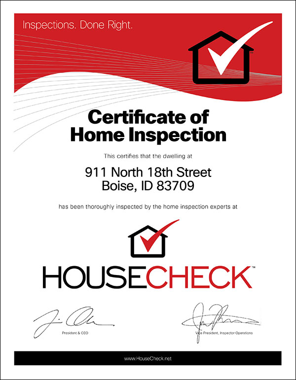 HouseCheck Home Inspector Inspections Done Right